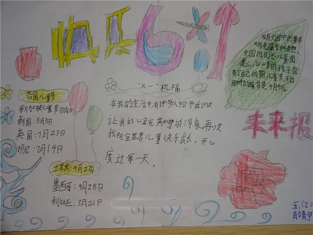 六一儿童节手抄报整理及六一儿童节的来历