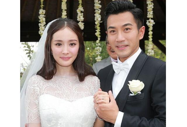 杨幂刘恺威的结婚照_励志大学