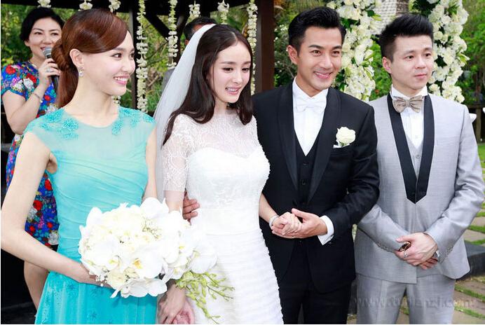 杨幂刘恺威结婚照_励志大学
