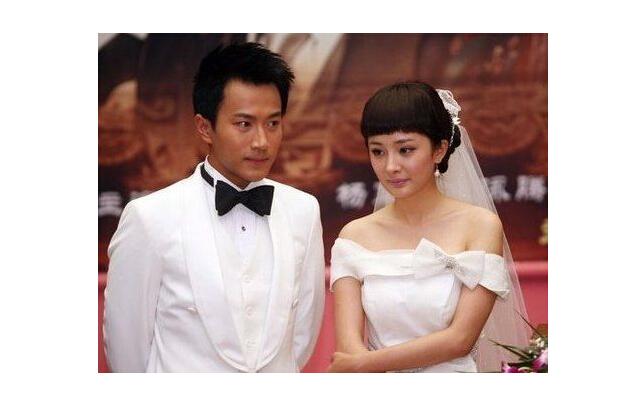 杨幂和刘恺威的结婚照片_励志大学