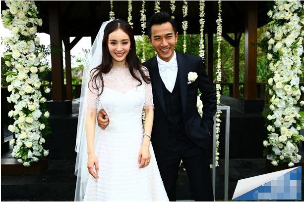 杨幂和刘恺威的结婚照_励志大学