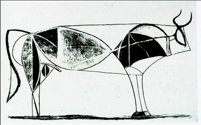 毕加索的作品牛_励志大学