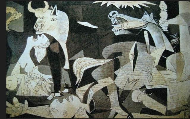 毕加索反应法西斯的图片_励志大学