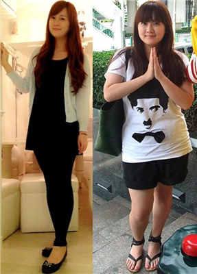 _减肥成功前后对比图