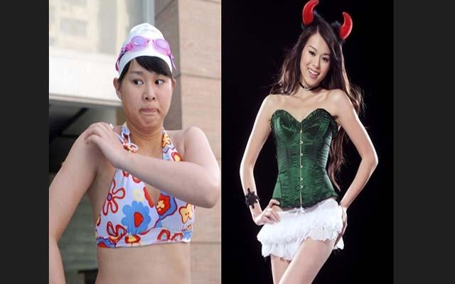 减肥照片对比