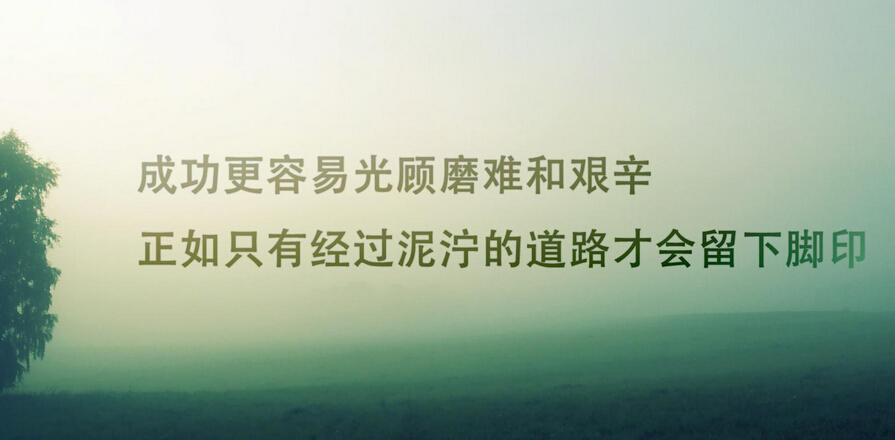 成功更容易光顾磨难和艰辛